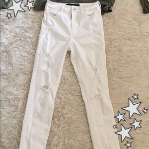 hollister white jeans size 0